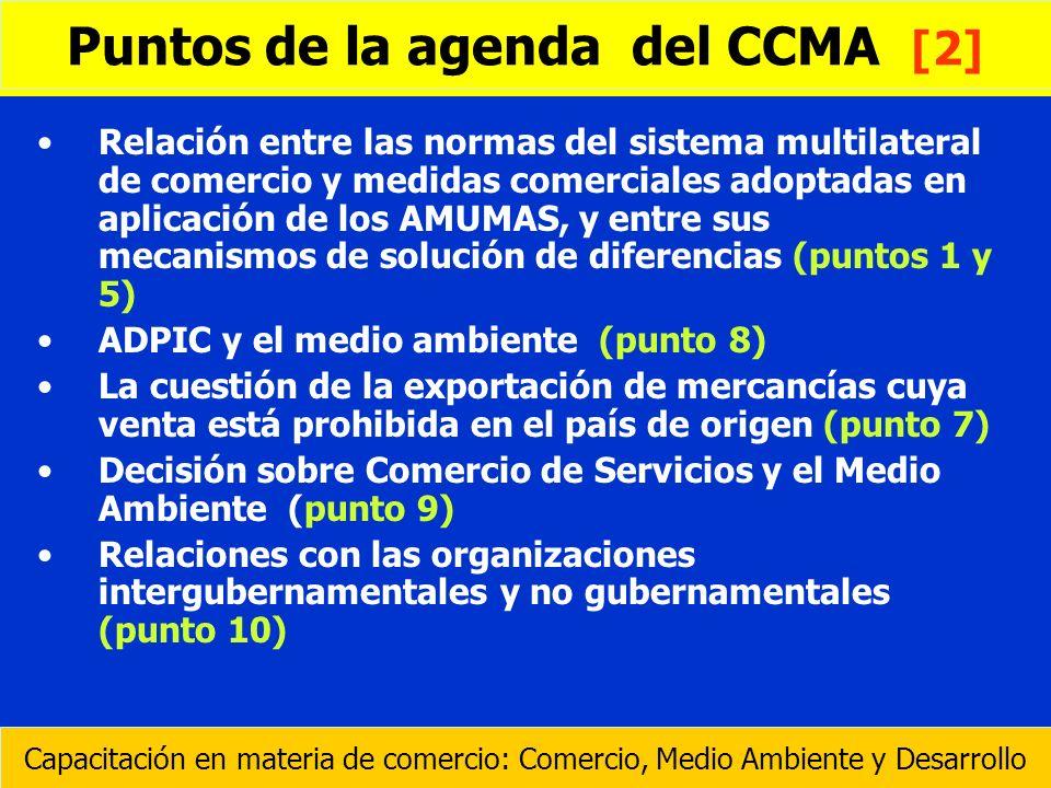 Puntos de la agenda del CCMA [2]